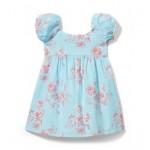 Puffed Sleeve Floral Dress
