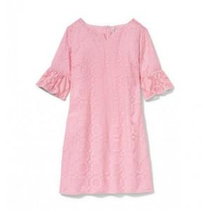Pink Womens Lace Dress