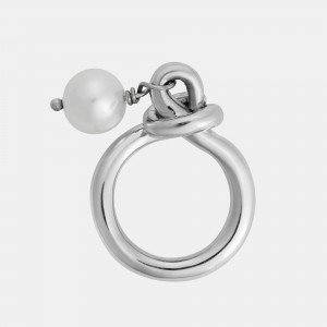 Ileana Makri Knot Ring With Pearl