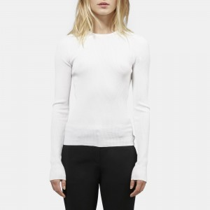 Wooster Crepe Knit Basic Crew