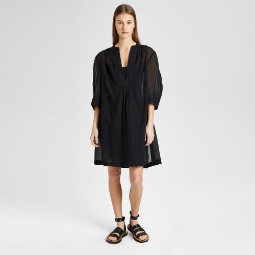 띠어리 Placket Shirred Dress