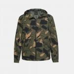 Camo Hooded Tech Jacket