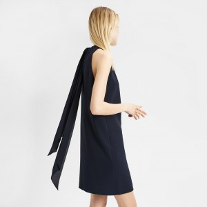 Crepe Clean Halter Day Dress