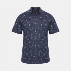 Printed Cotton Standard-Fit Shirt