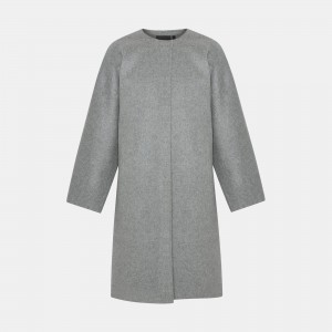 Wool-Cashmere Rounded Coat