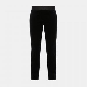 Stretch Velvet Straight Trouser