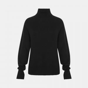 Cashmere Drop Shoulder Turtleneck