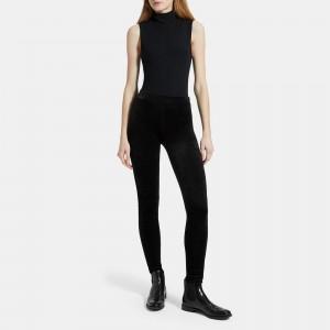 Velour Knit Pull-On Legging
