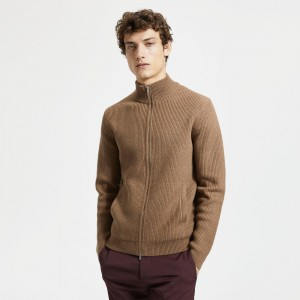 Merino Wool Zip Sweater