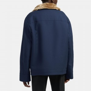 Utility Jacket With Shearling