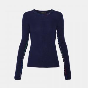 Multi-Color Linked Crewneck Sweater