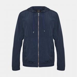 Garment-Dyed Nylon Track Jacket
