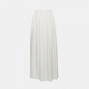 Silk Charmeuse Pull-On Skirt