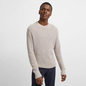Linen Blend Crewneck Sweater