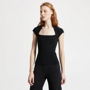 Merino Wool-Silk Knit Short-Sleeve Tee