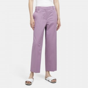Stretch Chino High-Waisted Straight Pant