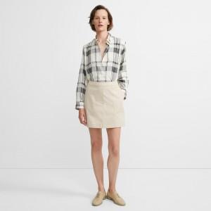 Classic Chino Stitched Pocket Skirt