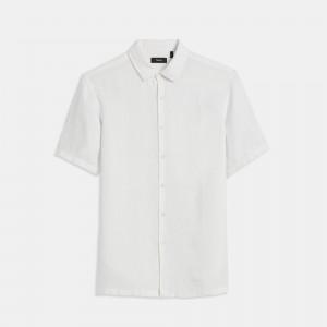 Summer Linen Short-Sleeve Irving Shirt