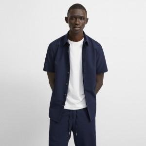 Seersucker Irving Short-Sleeve Shirt