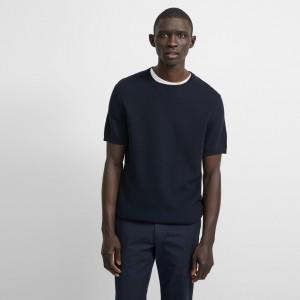 Cotton Pique Canaro Short-Sleeve Shirt