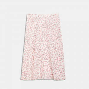 Flower-Print Volume Skirt