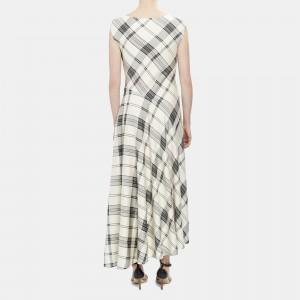 Plaid Asymmetric Tango Dress