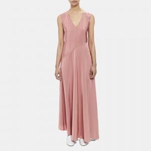 V-Neck Draped Dress