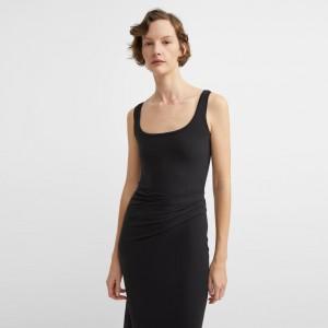 Cotton-Modal Round Neck Dress