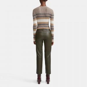Striped Cashmere Cardigan