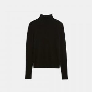 Feather Cashmere Basic Turtleneck Sweater
