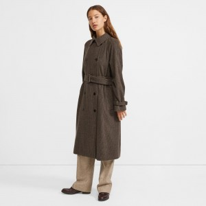 Houndstooth Flannel Classic Trench
