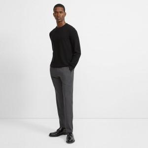 Stretch Wool Twill Slim-Straight Pant