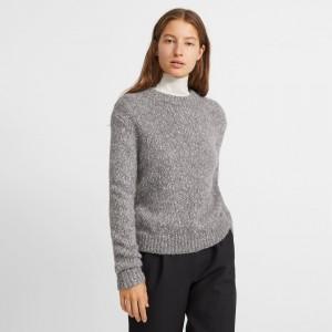 Tweed Alpaca Speckled Crewneck Sweater