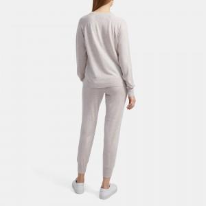 Easy Crewneck Sweater in Merino Wool Jersey