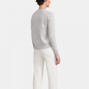 Easy Crewneck Sweater in Donegal Cashmere