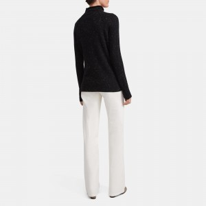 Mock Neck Sweater in Donegal Cashmere