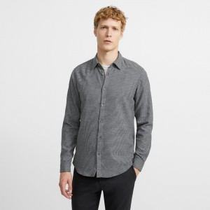 Cotton Flannel Houndstooth Irving Shirt
