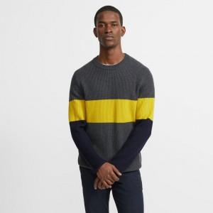 Merino Wool Color Block Sweater