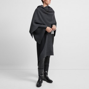 Felted Wool-Cashmere Poncho
