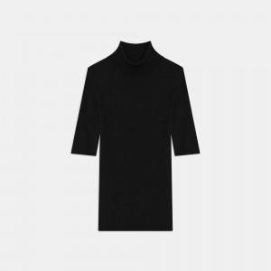 Short-Sleeve Turtleneck Sweater in Regal Wool