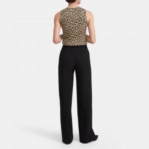 Shell Top in Leopard Knit