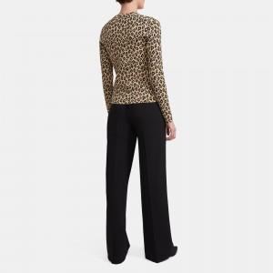 Cardigan in Leopard Knit