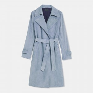 Trench Coat in Suede