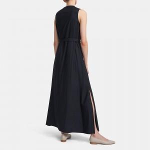 Maxi Shirtdress in Viscose Twill
