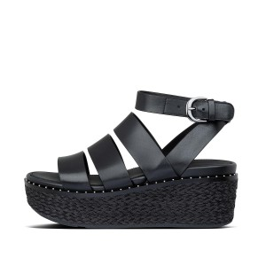 Womens Eloise Leather Back-Strap-Sandals