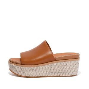 Womens Eloise Leather Slides