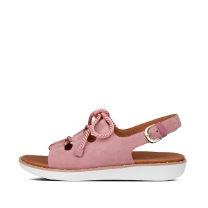 Womens Felicity Suede Back-Strap-Sandals