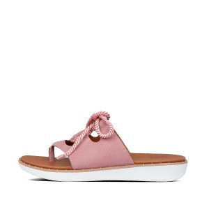 Womens Felicity Suede Toe-Post Sandals