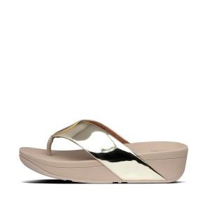 Womens Flogo Pu Toe-Post Sandals