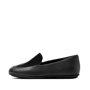 Womens Lena Suede-Leather Loafers